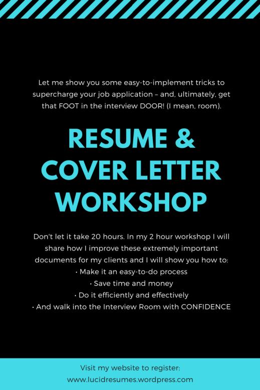 resume & cover letter workshop