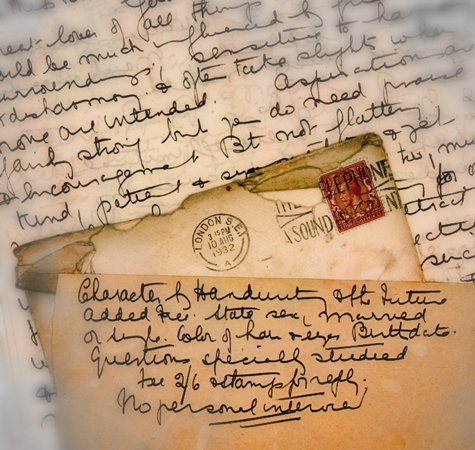 old fashioned letter